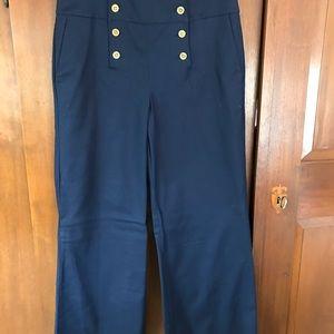 Ralph Lauren Button Front Navy Pants